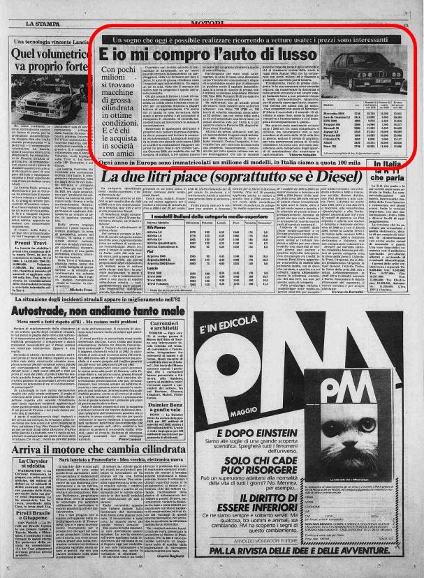 La Stampa, 13 Maggio 1983