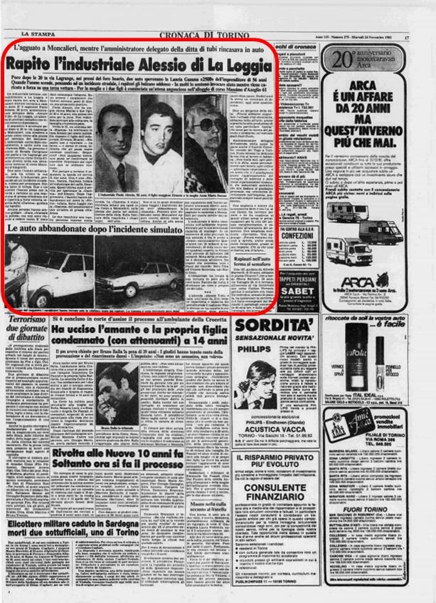 La Stampa, 24 Novembre 1981