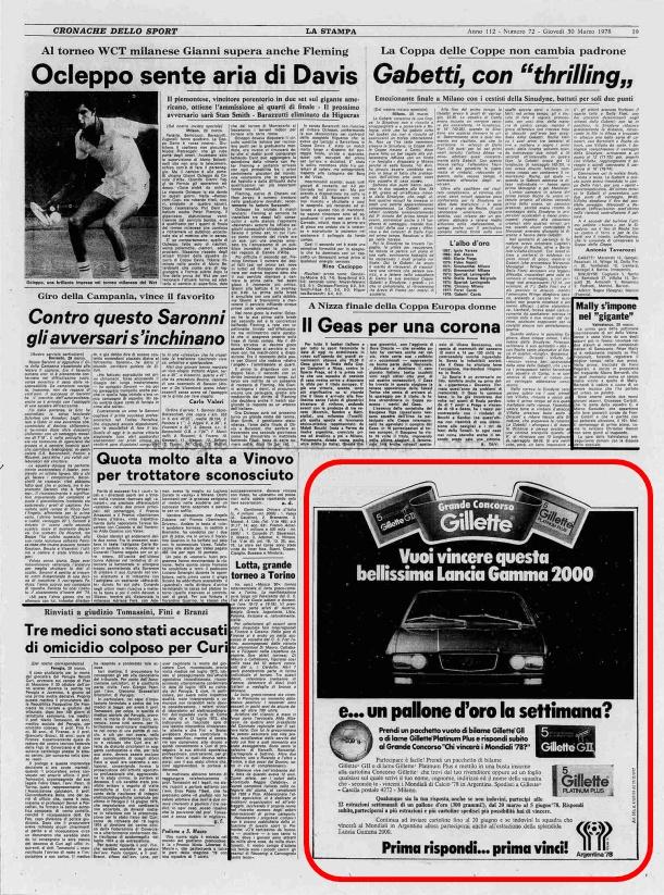 La Stampa, 30 marzo 1978