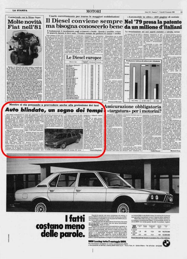 La Stampa, 9 Gennaio 1981