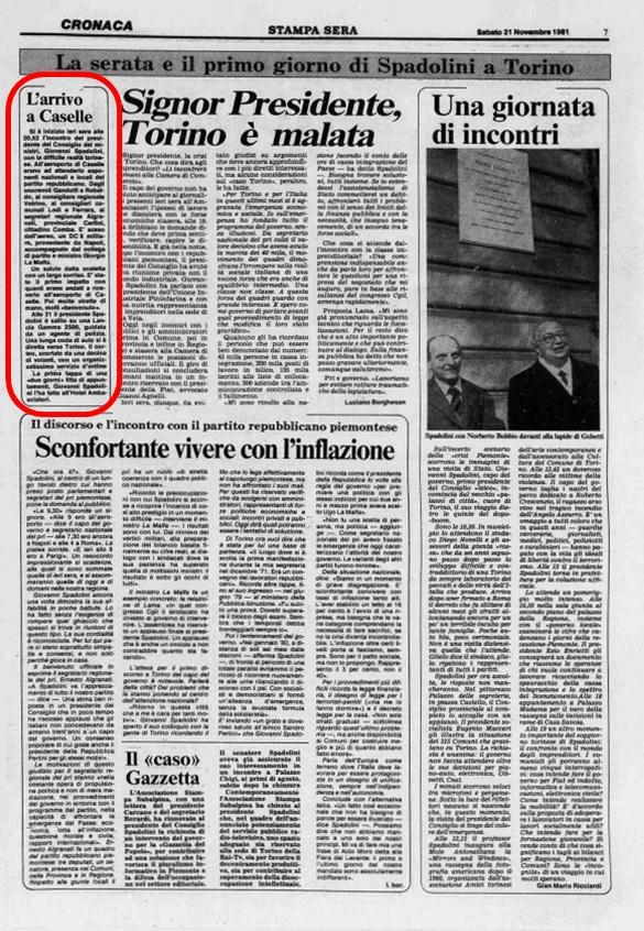 La Stampa Sera, 21 Novembre 1981