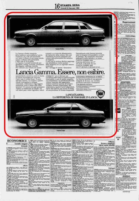 La Stampa sera, 22 Gennaio 1982