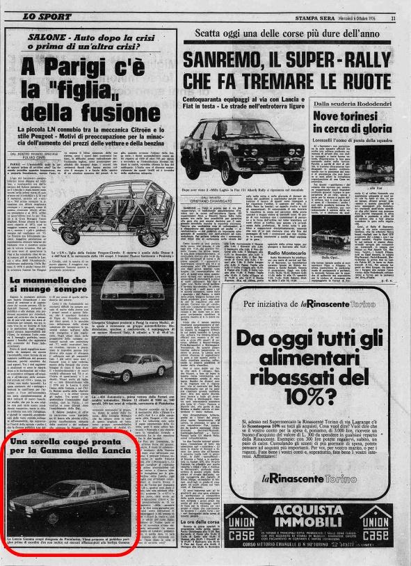 La Stampa sera, 6 Ottobre 1976