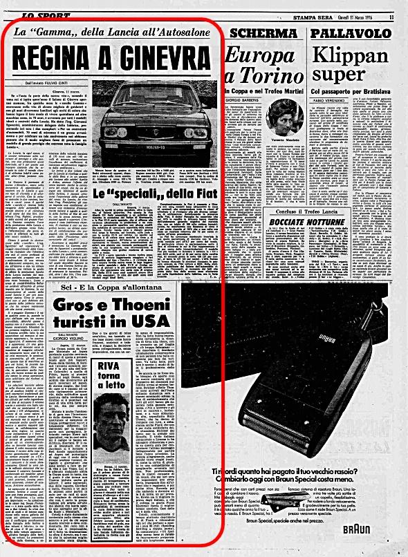 La Stampa Sera, 11 Marzo 1976
